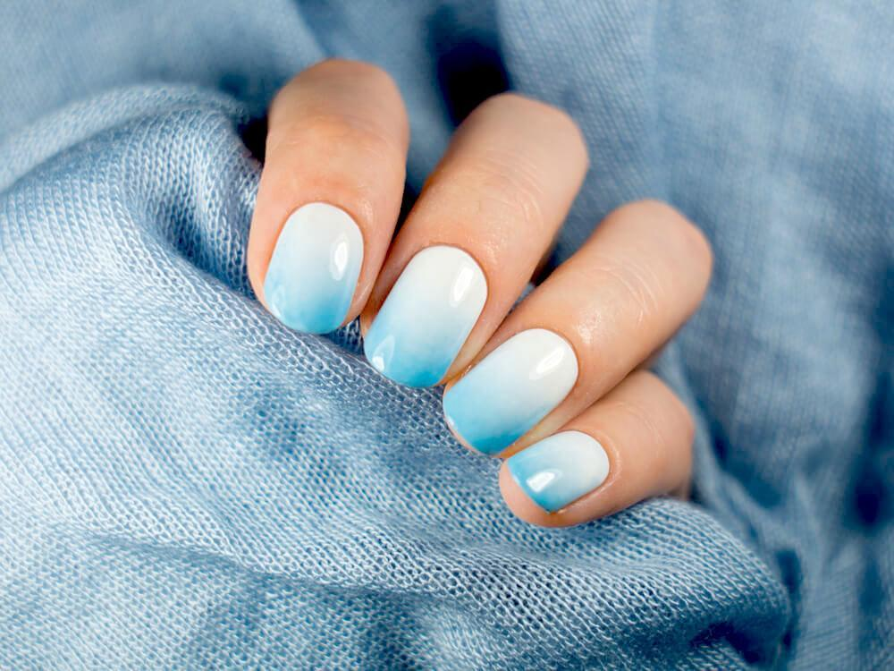 icy blue nails