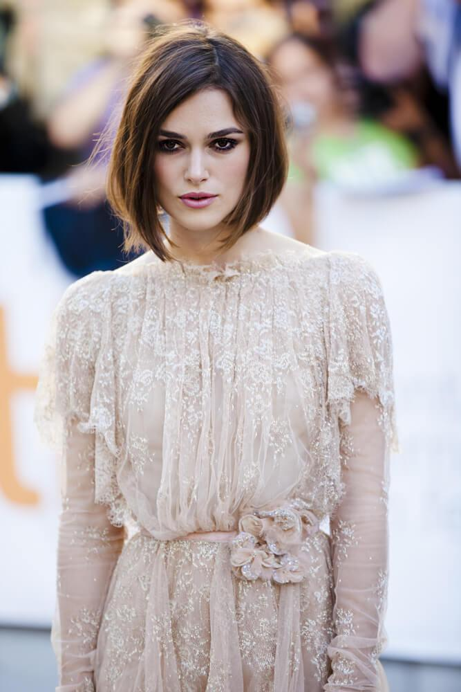"TORONTO, ON/CANADA - SEPTEMBER 13, 2011: Keira Knightley graces the TIFF red carpet at the screening of ""A Dangerous Method"" on September 13, 2011 in Toronto"