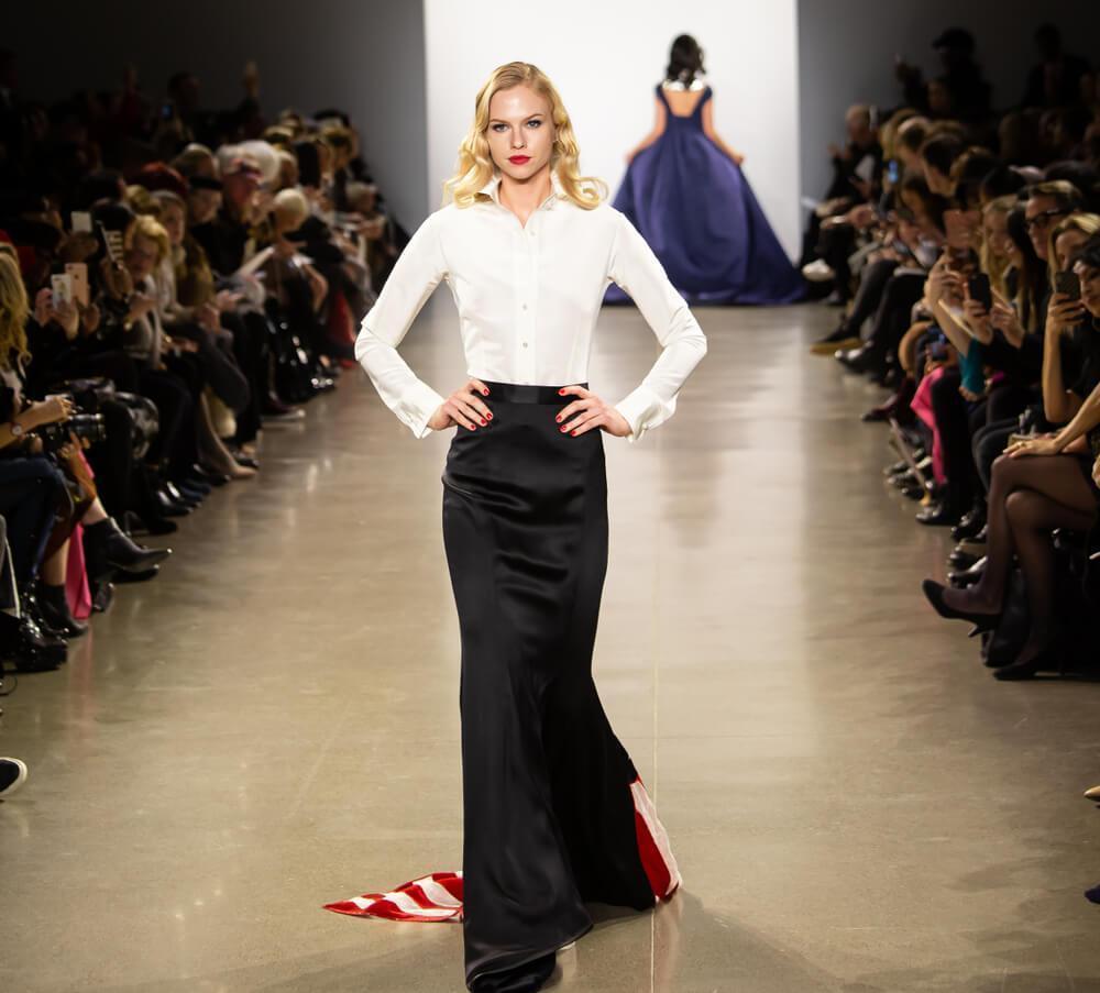 New York, Manhattan, 50 Varick Street - February 13, 2019: Zang Toileting Fashion Show, New York Fashion Week