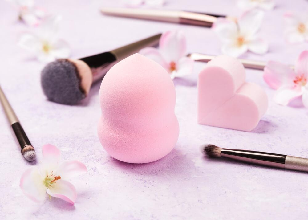 Beauty sponge and brushes
