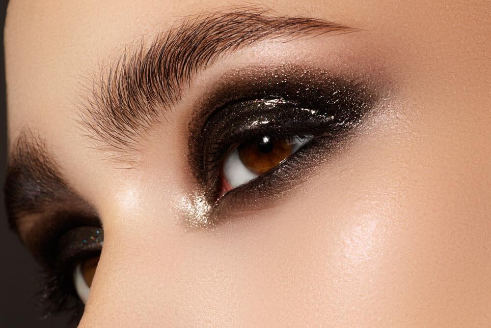 Eyes with glitter eyeshadow