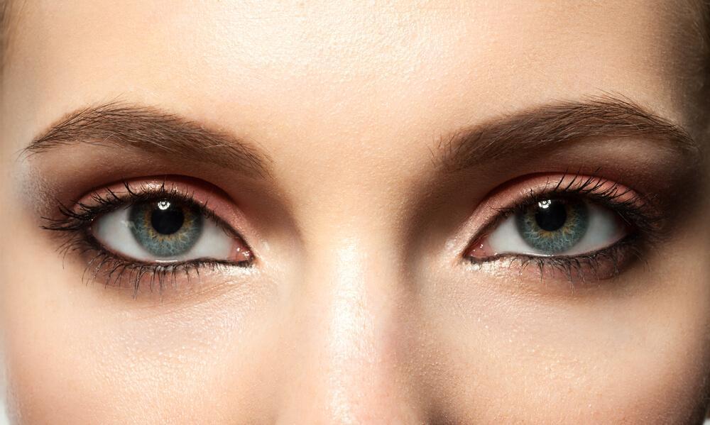 Eyes with eyeliner