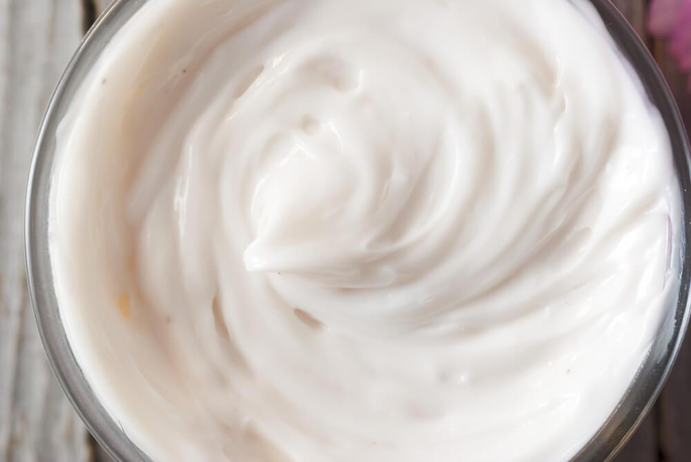 Close-up of cream texture